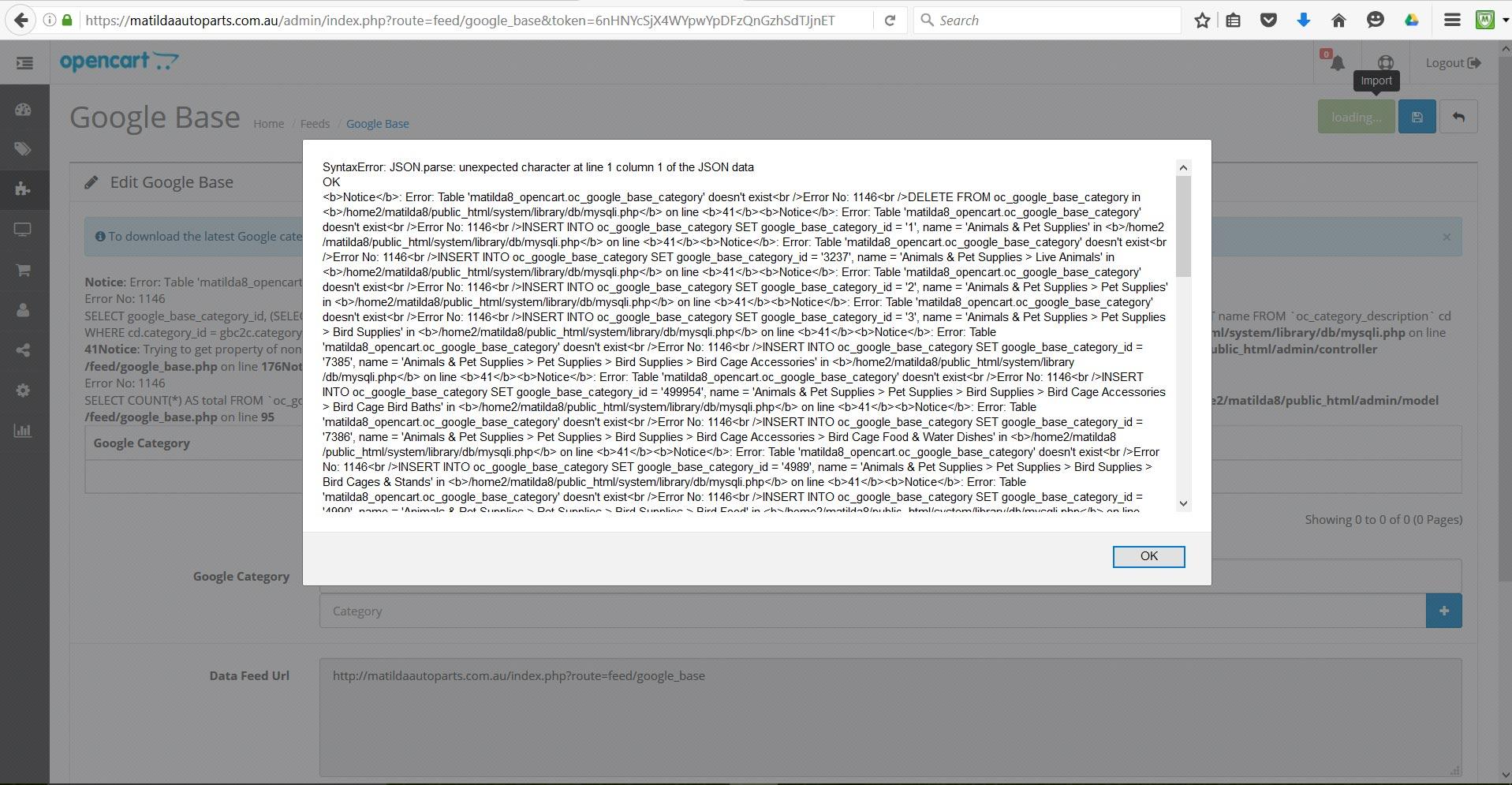 Google Base Issue - OpenCart Community