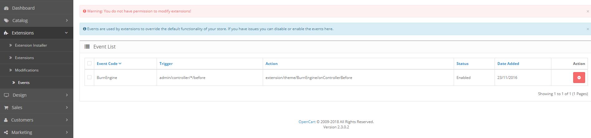 Permission Denied opencart 2 3 0 2 - OpenCart Community
