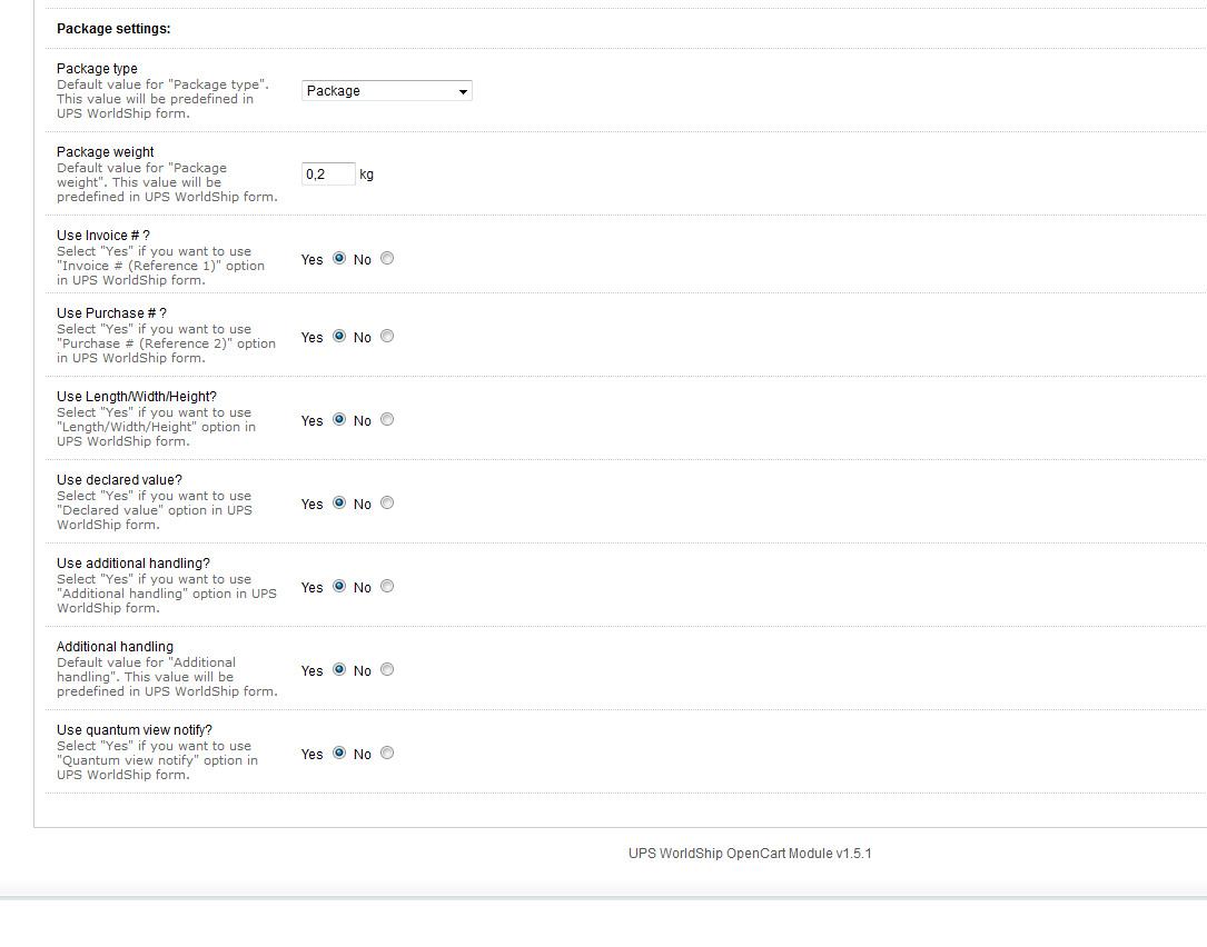 UPS WorldShip Module - Opencart - OpenCart Community